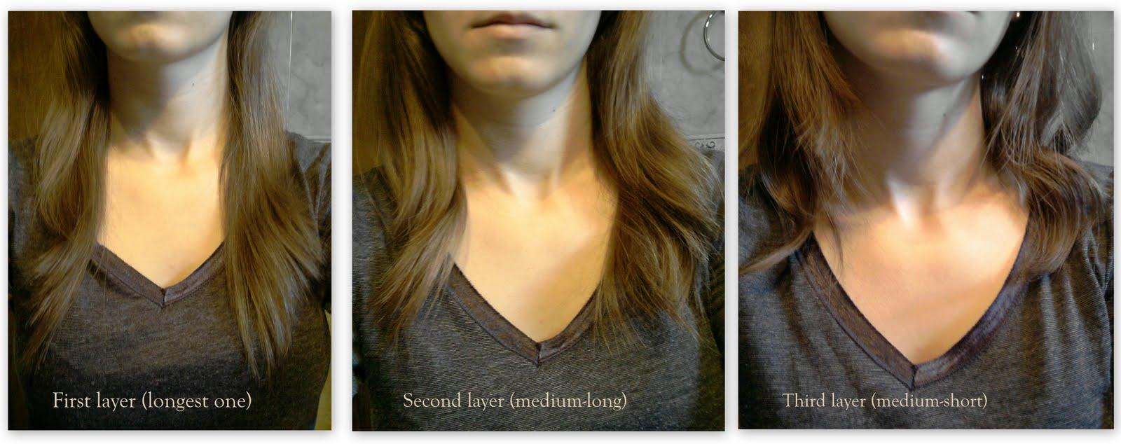How Cut Your Own Hair Layers Side Swept Bangs  Sophie Hairstyles