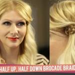 How Half Down Brocade Braid
