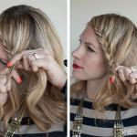 How Lace Braid Hairstyle Tutorial Step