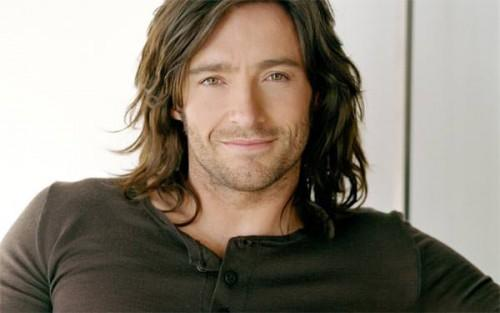 Hugh Jackman Looks Very Hsome Long Hair Here