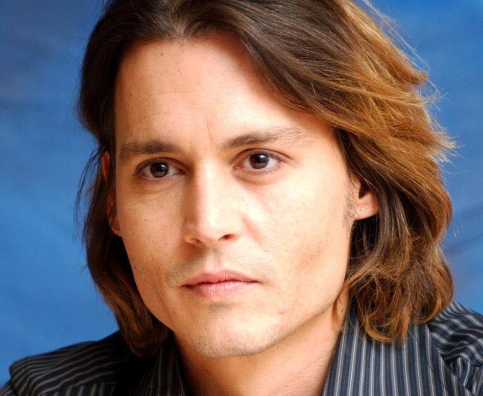 Johnny Depp Hairstyles Long Natural Wave Chestnut Coloring
