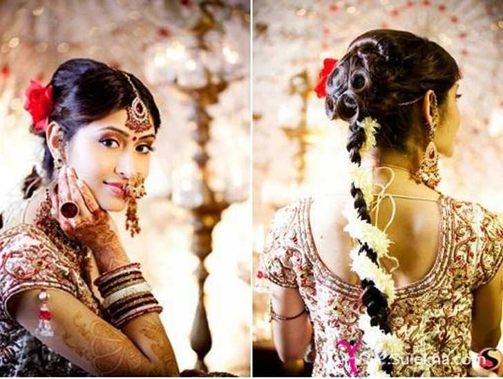Latest Indian Bridal Hairstyle Sophie Hairstyles 2192
