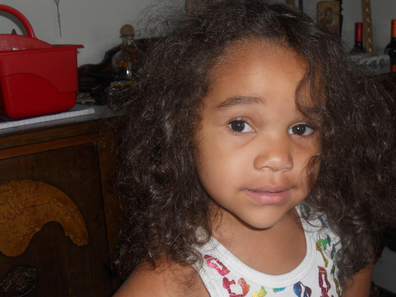 Little Mixed Boys Curly Hair Because Her Curls Get All