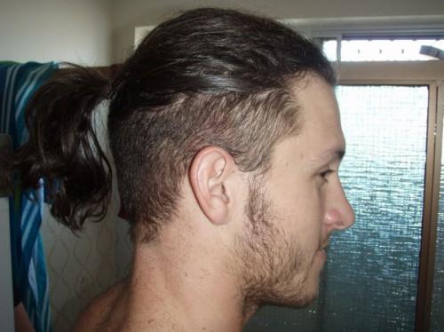 Long Hair Top Shaved Sides Men Pictures
