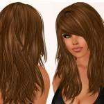 Long Layered Hair Bangs Lots Layers Side