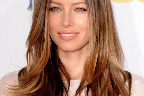 Medium Wavy Hairstyles Jessica Biel Long Straight Hairstyle