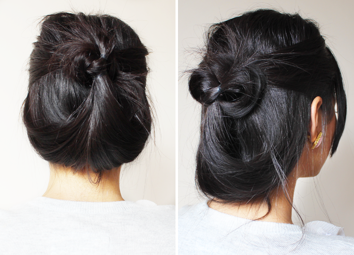 Minute Casual Updo Quick Easy Updos For Long