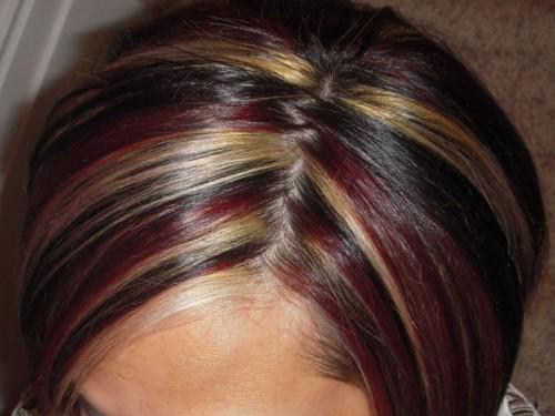 Multiple Highlighted Hairstyle