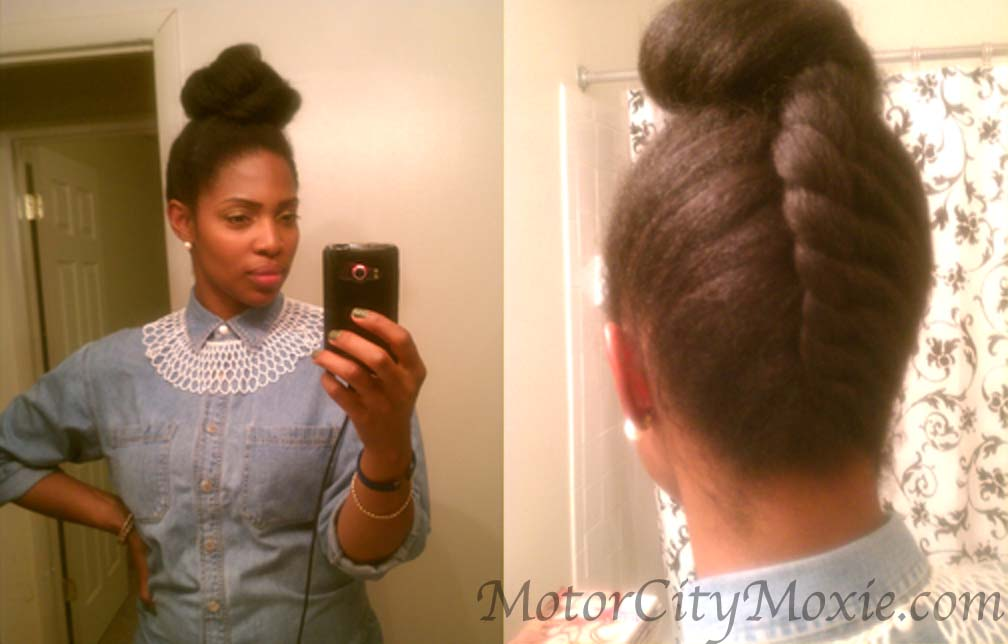 Natural Hair Styles Updo Flat Twist Hairstyles Trends