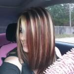 New Hair Brown Blonde Red Highlights Hairstyles