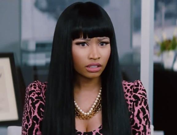 Nicki Minaj Black Hair Bangs Woman Trailer