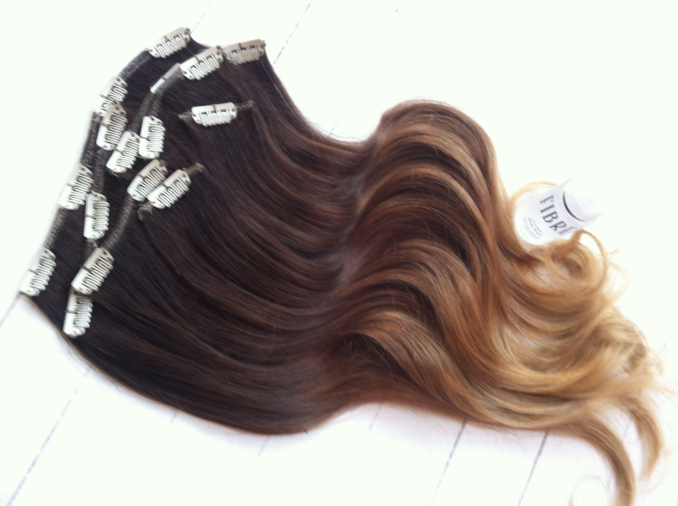Ombre Hair Extensions Chocolate Brown Caramel Pieces