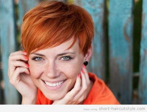 Pictures Cute Short Red Hairstyles