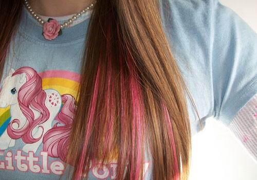 Pink Highlights For Brown Hair Funky