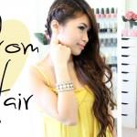Prom Hairstyle Side Swept Braid Long Hair Tutorial Bebexo