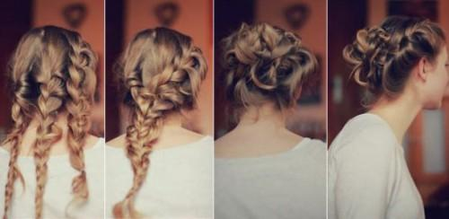 Quick Amazing Triple Braided Prom Updo Hairstyle Tutorial