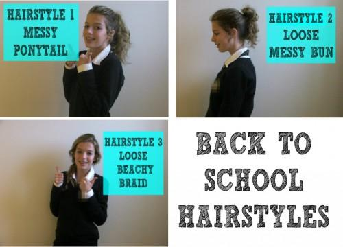 Quick Easy Hairstyles Before School