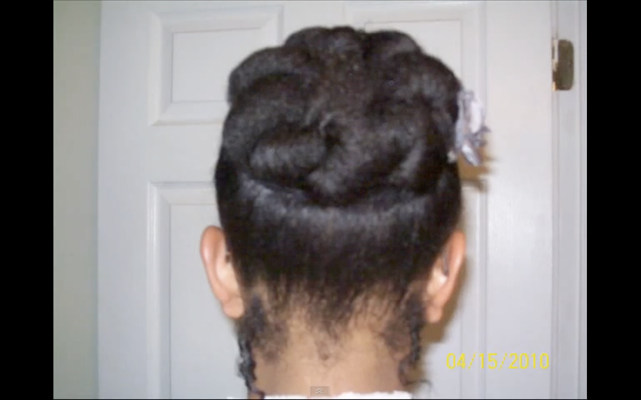 Quick Easy Style For Short Natural Hair Bunned Updo