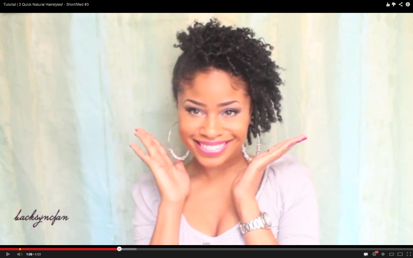 Quick Natural Hairstyles For Short Med Hair