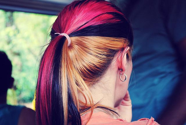 Red Black Blonde Dyed Hair Color Ideas Sophie Hairstyles 18856