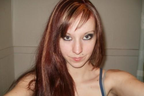 Red Hair Blonde Highlights Dark Pictures Colors Brown