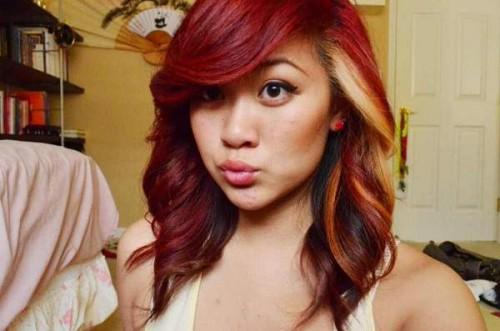 Red Hair Color Blonde Highlights
