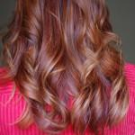Red Ombre Hair Medium Length Copper