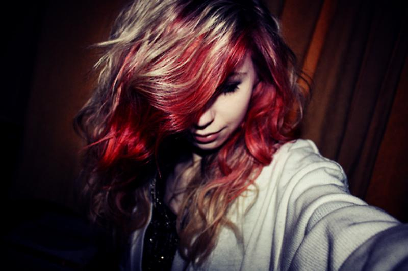 Red Tips Blonde Hair