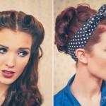 Retro Pin Style Hair Tutorials Freckled Fox
