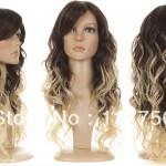 Sexy Fashion Ombre Hair Wig Two Tone Colorsyntic Lace Front