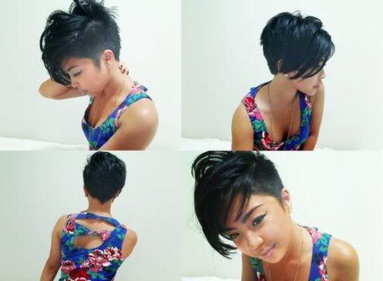 Short Asymmetrical Bob Hairstyles Picture Size Posted