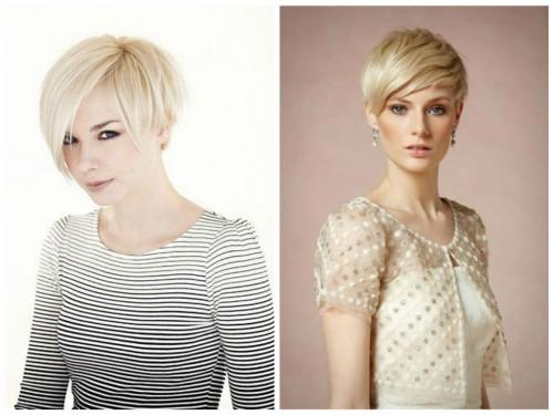 Short Blonde Pixie Cut Long