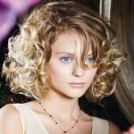Short Hair Curly Bob Hairstyles Side Bangs For Blonde Pics