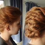Short Hair Style Updo French Braid Beauty Braided Updos For