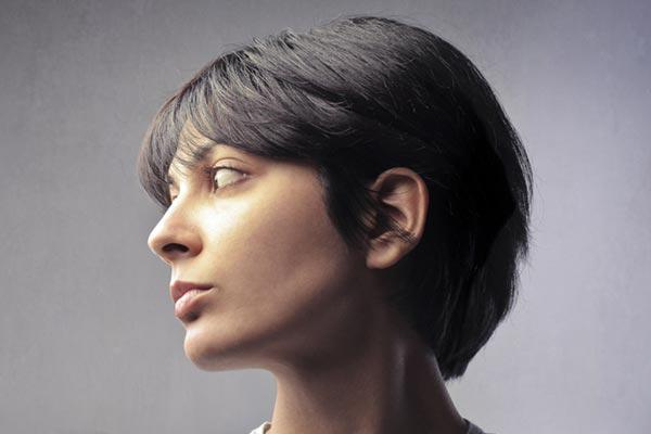 Short Hairstyle For Thick Hair Pixie Bangs