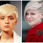 Short Hairstyle Long Bangs For Oval Face Shape
