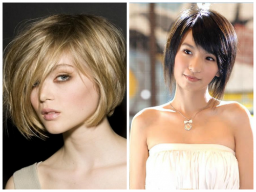 Short Layered Bob For Oval Face