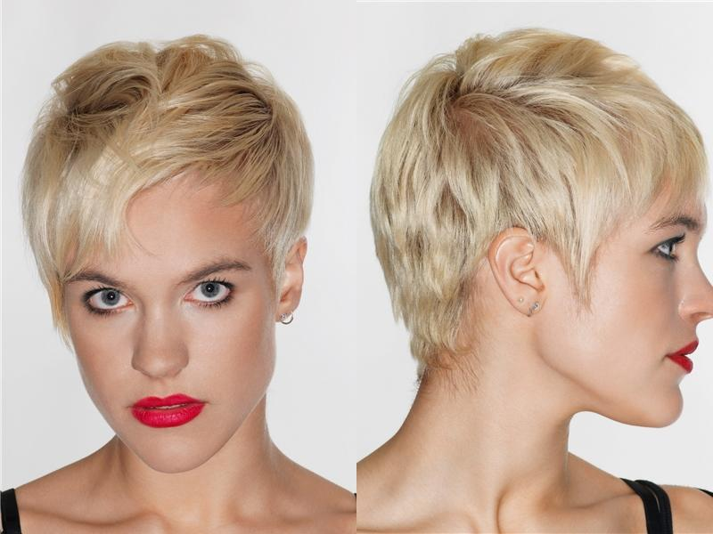 Short Layered Pixie Haircut For Inverted Triangle Heart Faces