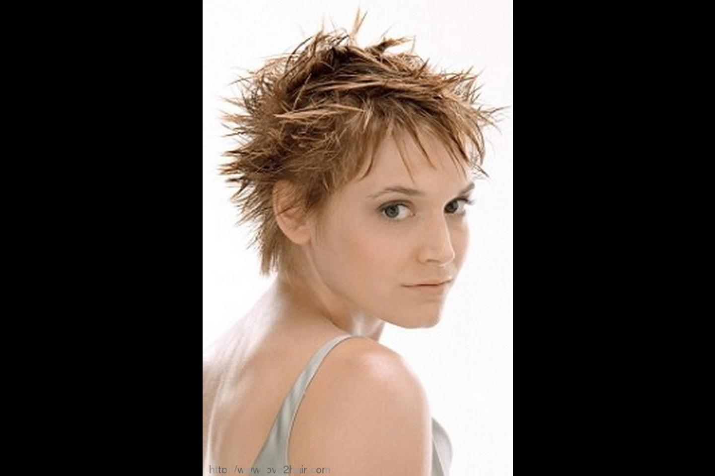 Short Spiky Hairstyles For Women Picture