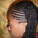 Side Cornrow Braided Tail