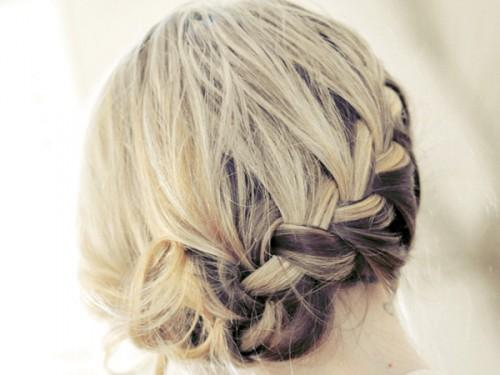 Side French Braid For Short Hair