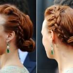 Side French Braid Hairstyles Berenice Bejo Best Oscar Hairstyle