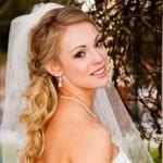 Slick Half Down Wedding Hairstyles For