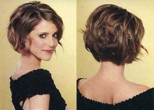 Stacked Curly Bob Haircut Short Hairstyles For Women Via