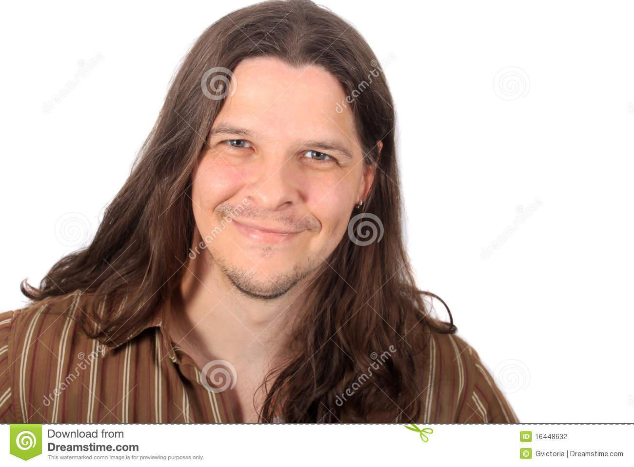 Stock Graphy Hsome Long Haired Man