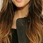 Straight Hair Celebrities Ombre Look
