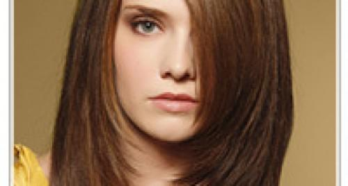 Straight Hairstyles For Round Faces