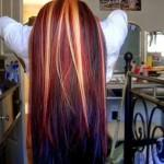 Styles For Brown Hair Blonde Red Highlights