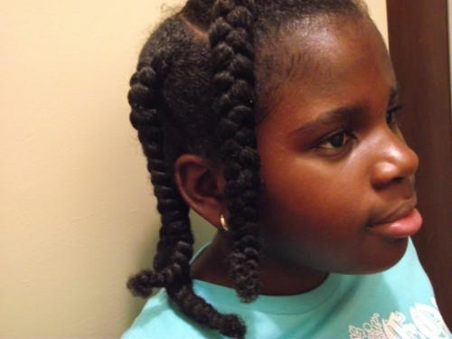 Summertime Natural Hair Style For