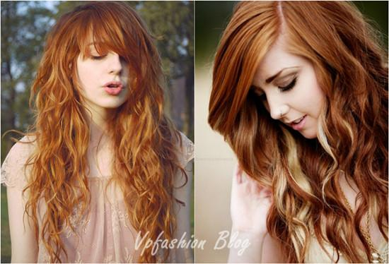 Sweet Wavy Blonde Red Ombre Hair Styles